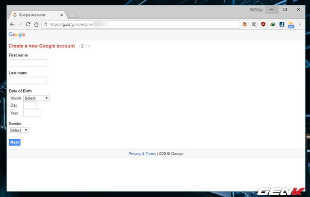 Thủ thuật đăng ký nhiều tài khoản Gmail với chỉ 01 số điện thoại - Ảnh 6.
