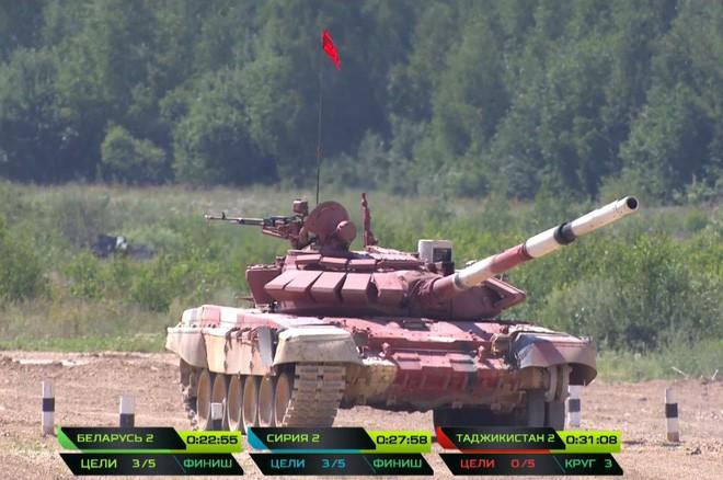 Đội đua xui xẻo nhất Tank Biathlon 2018: bắn không trúng bia nào, sắp về đến đích mà còn đứt xích, phải gọi xe khác tới đổi để chạy nốt bài thi - Ảnh 3.