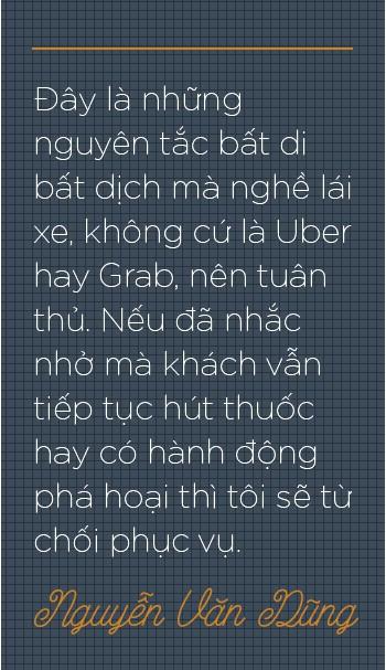 """Trò chuyện với tài xế Uber """"6 sao"""" đầu tiên ở Việt Nam: Cõng khách vượt qua quãng đường ngập, trong xe lúc nào cũng có sẵn khăn ướt, nước uống, dù phòng bị cho khách - Ảnh 7."""