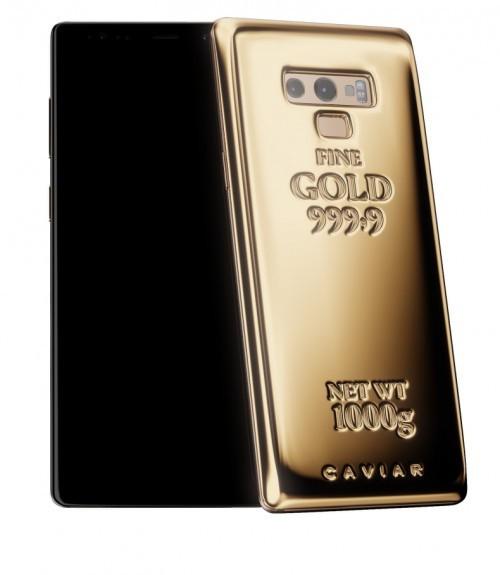 Cho rằng vẻ ngoài Galaxy Note9 chưa đủ chảnh, hãng Caviar đặt thêm hẳn 1 cân vàng lên mặt lưng smartphone này - Ảnh 1.