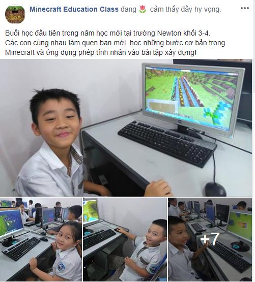 Trường tiểu học tại Hà Nội đưa Minecraft vào giảng dạy cho học sinh - Ảnh 1.