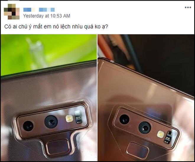 Nhiều người tá hỏa vì Galaxy Note 9 mới tinh đã lệch camera, Samsung lên đăng đàn sự thật ngay lập tức - Ảnh 1.