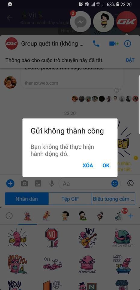 Facebook Việt Nam gặp lỗi diện rộng: News Feed trắng xóa, Messenger không cho gửi sticker và emoji - Ảnh 3.