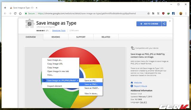 Khắc phục lỗi lưu ảnh tự đổi sang định dạng JFIF trên Google Chrome 68 trong Windows 10 - Ảnh 9.
