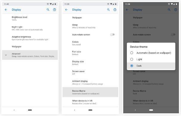 Xem chế độ Dark Mode chính chủ trên Android 9 Pie - Ảnh 2.