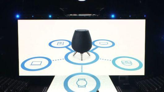 Samsung ra mắt loa thông minh Galaxy Home: Tích hợp Bixby, sử dụng 7 màng loa, cạnh tranh trực tiếp Apple HomePods - Ảnh 1.