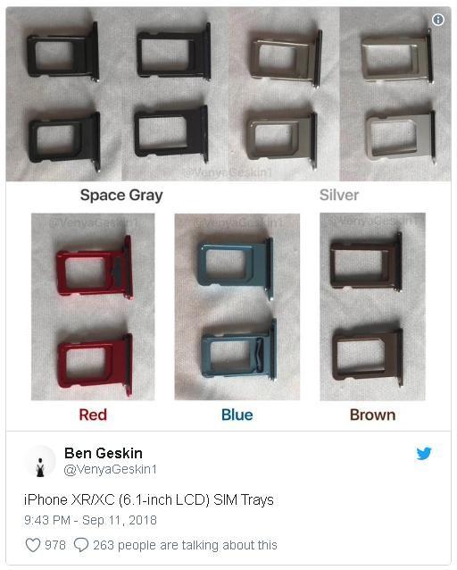 Rò rỉ thêm hình ảnh của iPhone XC, tiết lộ màu sắc mới và bí mật của khay SIM - Ảnh 1.