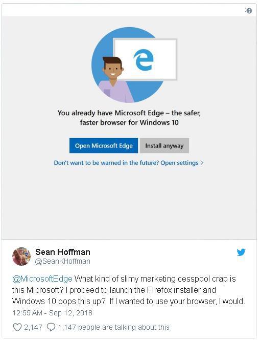 Microsoft cảnh báo người dùng Windows 10 khi cài đặt Chrome và Firefox - Ảnh 2.