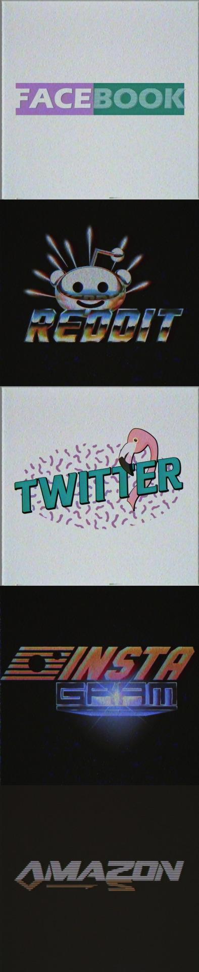 Logo của Reddit, Amazon và SoundCloud trông sẽ như thế nào nếu ra đời vào những năm 1980s? - Ảnh 2.
