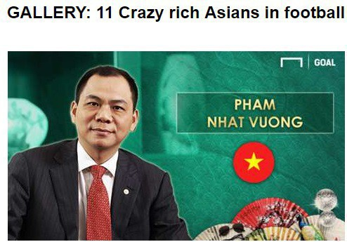 Tỷ phú Việt Nam lọt top đại gia bóng đá giàu nhất châu Á, sánh ngang ông chủ của Man City - Ảnh 1.