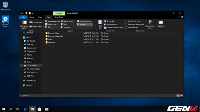 Trải nghiệm Windows 10 October 2018: File Explorer có chế độ nền tối, hiệu suất cải thiện đáng kể - Ảnh 3.