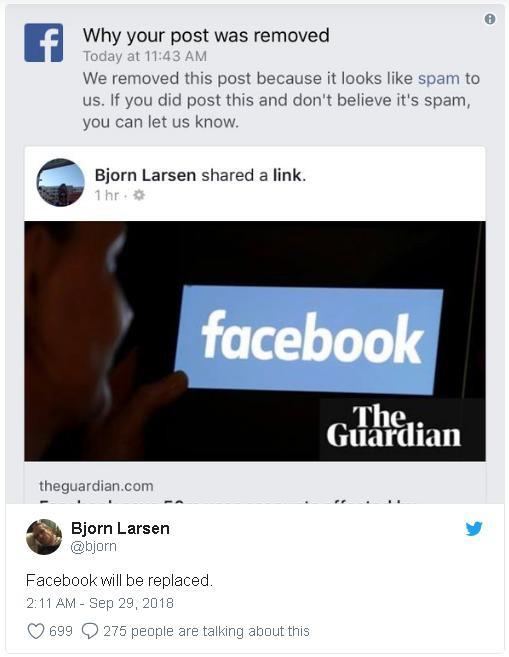 Facebook chặn người dùng chia sẻ về việc mạng xã hội này bị hacker tấn công và 50 triệu tài khoản bị ảnh hưởng - Ảnh 3.