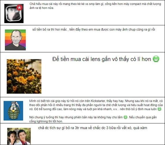 Một số bình luận của người Việt về chiếc gá kẹp này