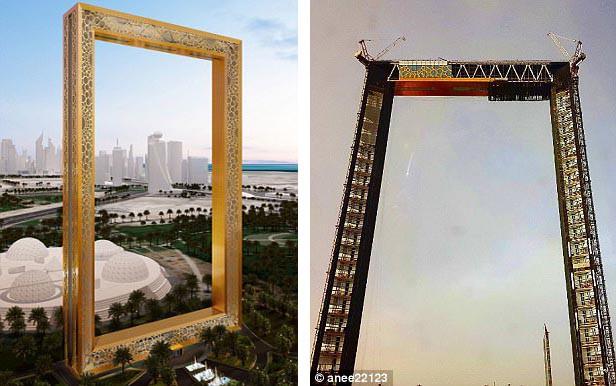 Dubai vừa khánh thành tòa nhà dát vàng trông giống hệt cái khung ảnh - Ảnh 2.