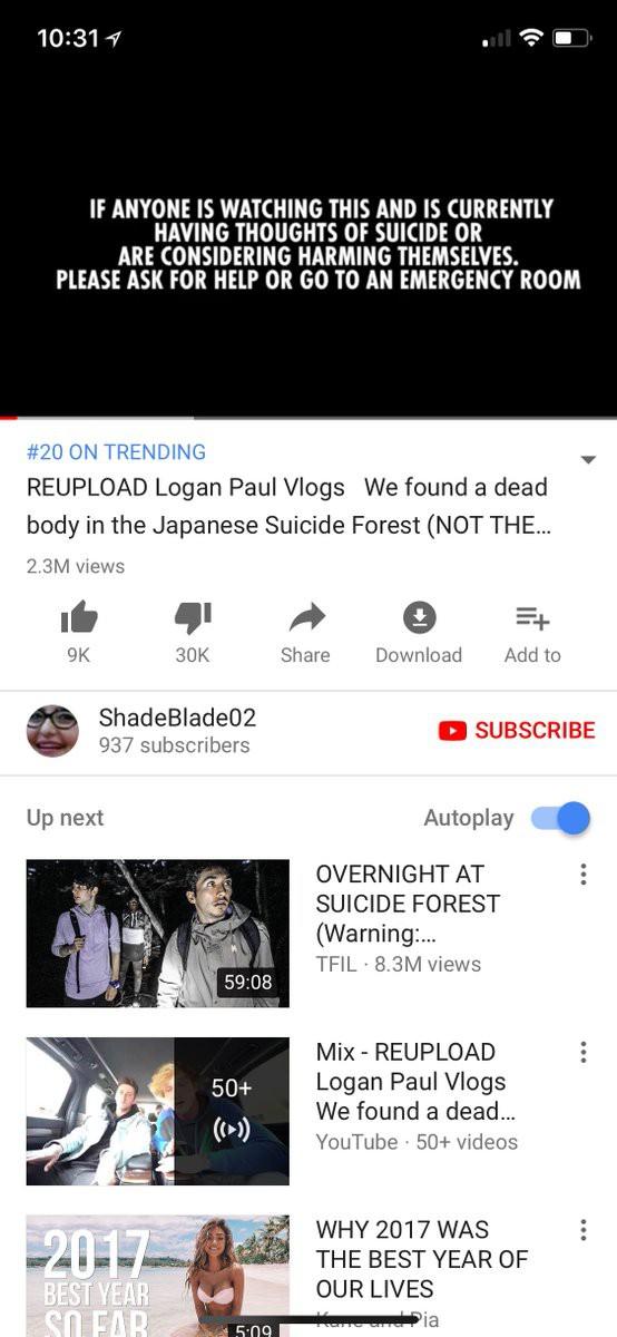 Video quay cảnh thi thể một người tự tử của Logan Paul được đăng lại và lọt top phổ biến, vấn đề cực kỳ nghiêm trọng với YouTube - Ảnh 2.