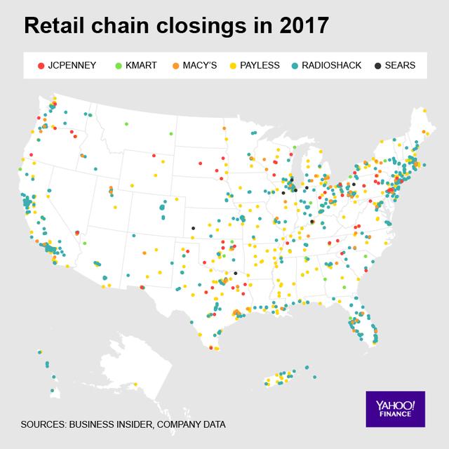 Kỷ lục: Gần 8.000 cửa hàng bán lẻ ở Mỹ phải đóng cửa trong năm 2017 - Ảnh 1.