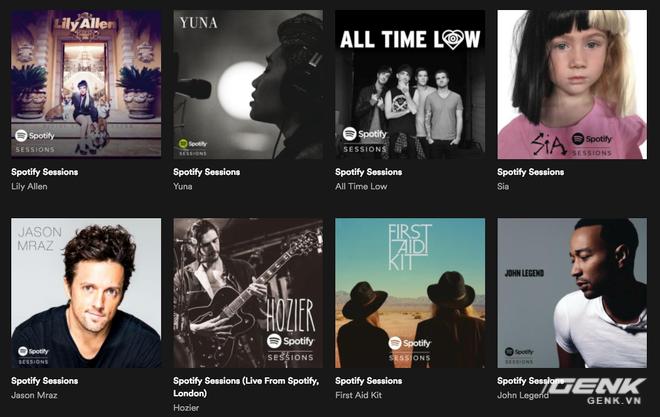 Spotify Sessions - tuyển tập những ca khúc được nghệ sĩ thu trực tiếp dành riêng cho dịch vụ này