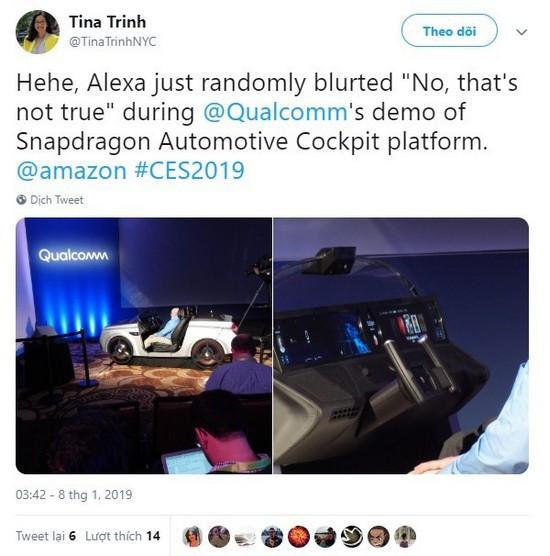 Trợ lý ảo Alexa của Amazon ngắt lời con người trên sân khấu CES 2019, phải chăng AI đã có suy nghĩ riêng? - Ảnh 4.