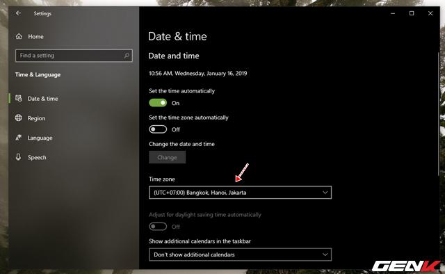 Nguyên nhân và cách khắc phục lỗi thời gian luôn hiển thị sai trên Windows 10 - Ảnh 5.