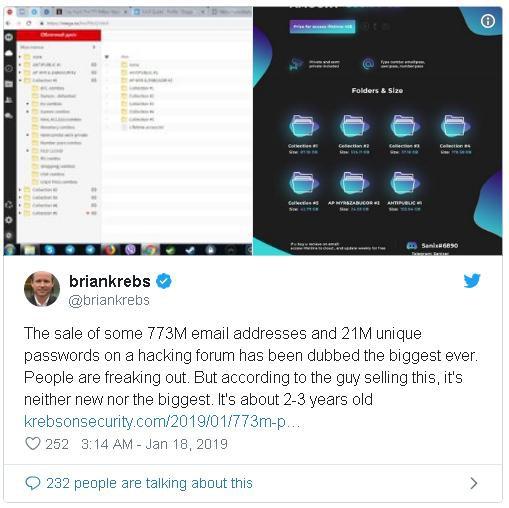 Vụ để lộ thông tin của 773 triệu email chỉ là một phần nhỏ trong bộ dữ liệu khổng lồ mà hacker đã đánh cắp, và toàn bộ dữ liệu này đang được rao bán với giá 45 USD - Ảnh 1.