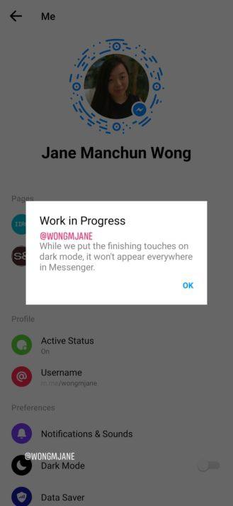 Đây chính là giao diện người dùng mới và chế độ Dark mode của Facebook Messenger - Ảnh 2.