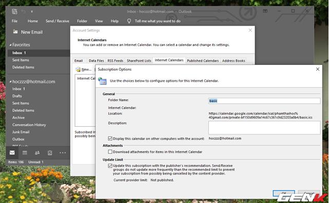 5 Cách đơn giản để đồng bộ và quản lý dữ liệu Google Calendar trên Windows 10 - Ảnh 15.
