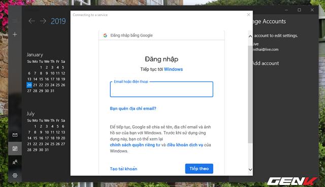 5 Cách đơn giản để đồng bộ và quản lý dữ liệu Google Calendar trên Windows 10 - Ảnh 5.