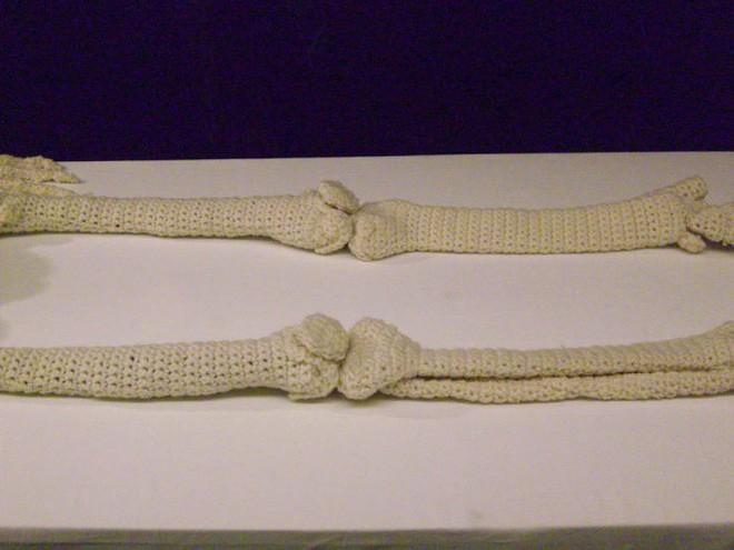 Cô nàng rảnh rỗi đan nguyên một bộ xương bằng len, có đủ cả lục phủ ngũ tạng và… một bữa ăn đang tiêu hóa dở - Ảnh 6.