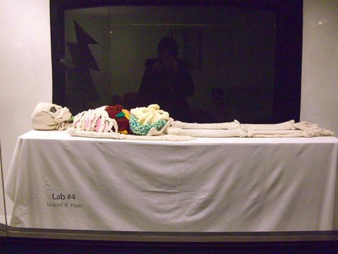 Cô nàng rảnh rỗi đan nguyên một bộ xương bằng len, có đủ cả lục phủ ngũ tạng và… một bữa ăn đang tiêu hóa dở - Ảnh 8.