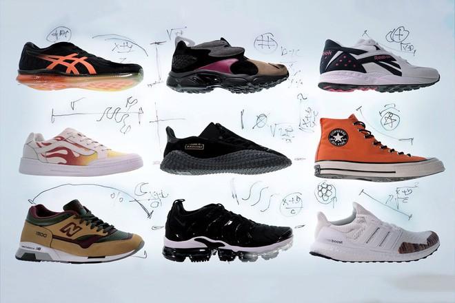 Mẫu giày được chắp vá nghệ thuật từ 9 đôi sneakers đình đám nhất năm 2018 - Ảnh 2.