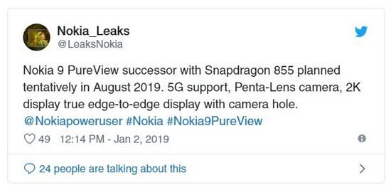 Nokia 9 PureView sẽ có phiên bản dùng chip Snapdragon 855 và hỗ trợ kết nối 5G ra mắt vào tháng 8/2019? - Ảnh 2.