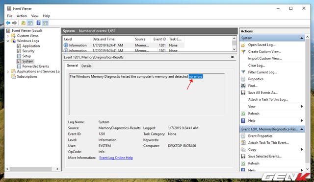 Cách kiểm tra và xác định phần cứng nào đang hoạt động không ổn định trong Windows 10 - Ảnh 11.