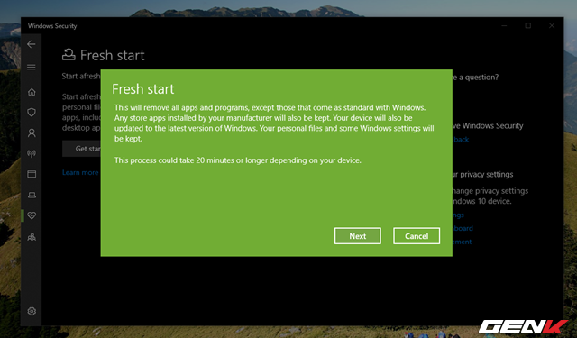 """Cần gì mất thời gian cài mới, Windows 10 cung cấp sẵn cho bạn tận 4 lựa chọn """"làm tươi"""" lại hệ điều hành - Ảnh 8."""
