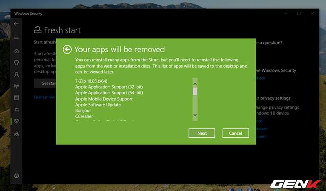 """Cần gì mất thời gian cài mới, Windows 10 cung cấp sẵn cho bạn tận 4 lựa chọn """"làm tươi"""" lại hệ điều hành - Ảnh 9."""