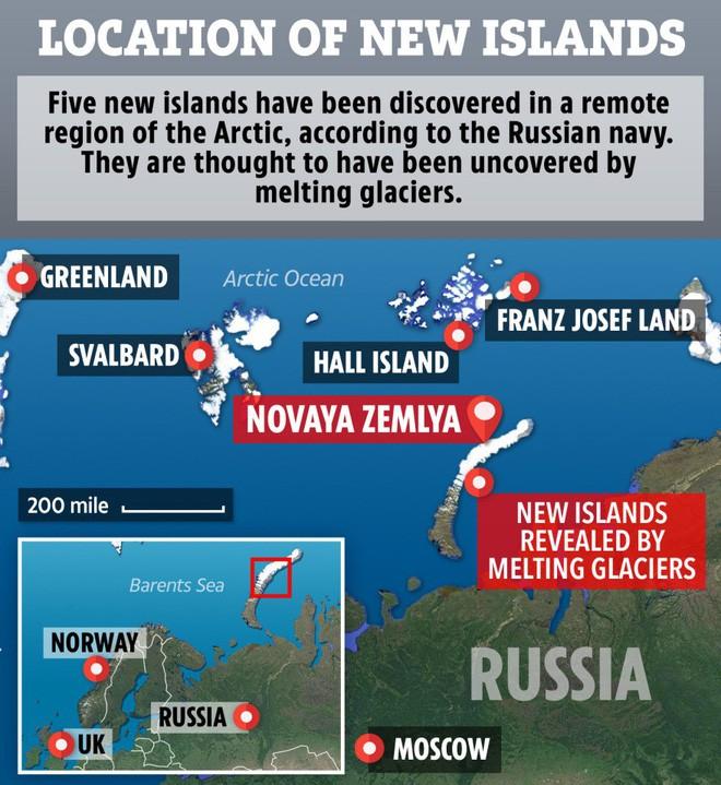 Bất ngờ phát hiện thêm 5 hòn đảo mới tại Bắc Cực do băng tan - Ảnh 2.