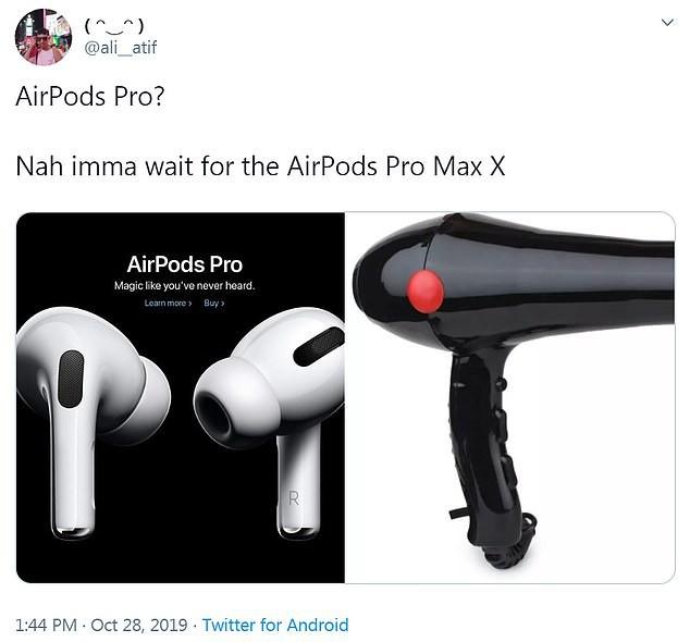 Vừa mới ra mắt, tai nghe Airpods Pro đã trở thành nguồn cảm hứng chế ảnh buồn cười đau cả bụng - Ảnh 4.