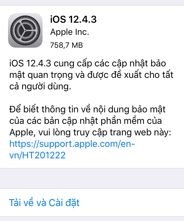 Tung ra iOS 12.4.3 cho iPhone 5s và iPhone 6, Apple vẫn chưa bỏ rơi thiết bị đời cũ - Ảnh 1.