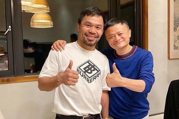 Hậu nghỉ hưu, tỷ phú 'già gân' Jack Ma tập tành đấm bốc, lập team thách thức tay đấm huyền thoại người Mỹ, Floyd Mayweather - Ảnh 1.