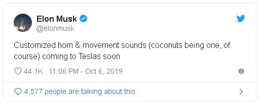"""Elon Musk sẽ cho phép khách hàng của Tesla đổi tiếng còi xe thành tiếng dê kêu, hay thậm chí là tiếng """"thả bom"""" - Ảnh 2."""