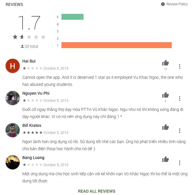 HOCMAI nhận bão 1* trên chợ ứng dụng, Google Maps vì hợp tác cùng giáo viên Vũ Khắc Ngọc - Ảnh 3.