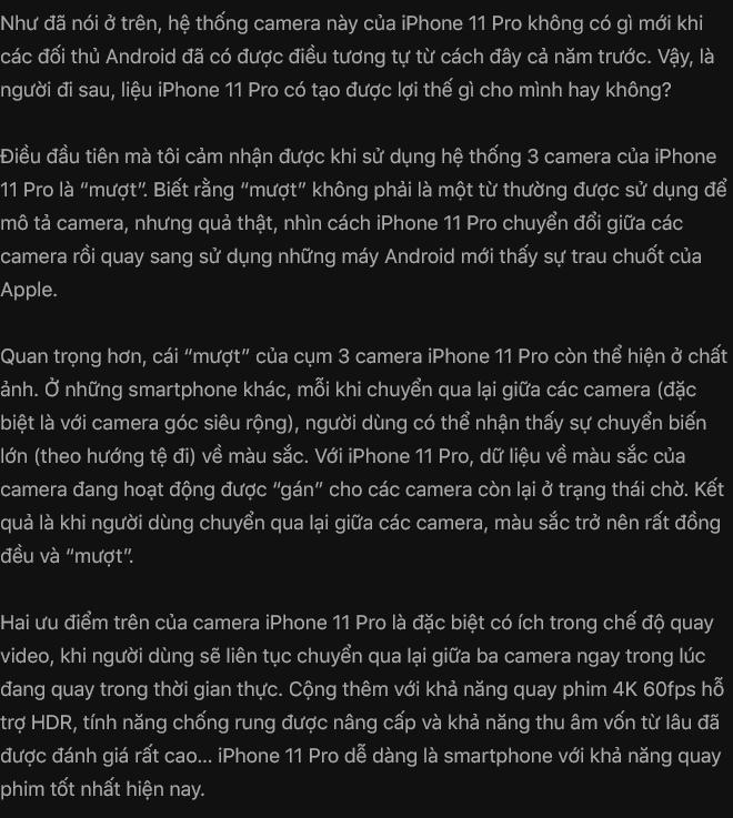 Đánh giá iPhone 11 Pro: Không phải người đi đầu, nhưng vẫn là người dẫn đầu - Ảnh 19.