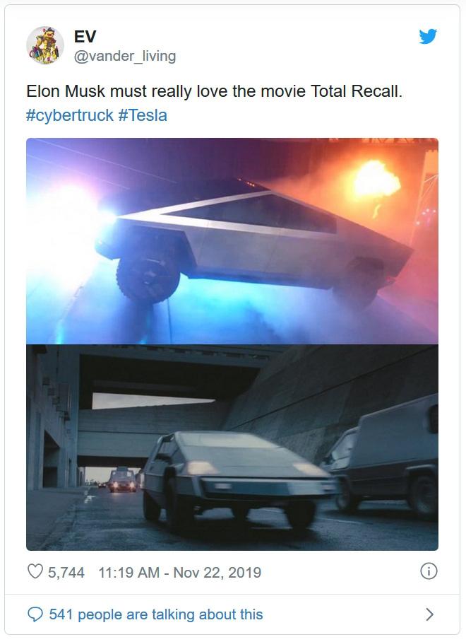 Vừa ra mắt, Cybertruck đã bị dân mạng lôi ra so sánh vì ngoại hình quá độc - Ảnh 1.