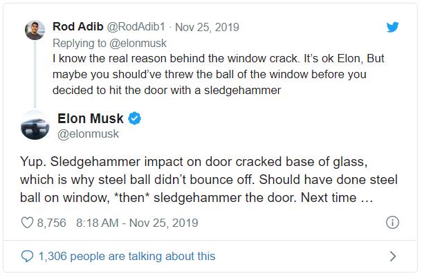 Elon Musk giải thích lý do vì sao cửa kính Cybertruck bị vỡ trong màn trình diễn - Ảnh 2.