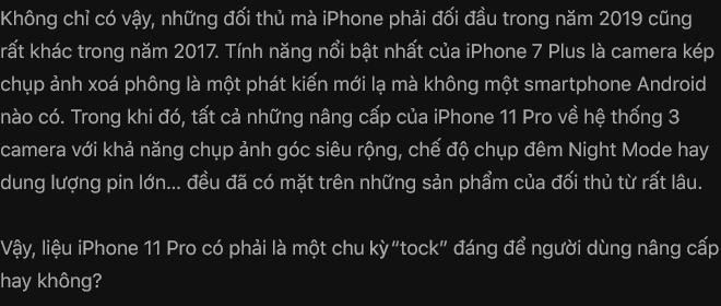 Đánh giá iPhone 11 Pro: Không phải người đi đầu, nhưng vẫn là người dẫn đầu - Ảnh 5.
