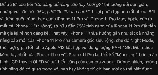 Đánh giá iPhone 11 Pro: Không phải người đi đầu, nhưng vẫn là người dẫn đầu - Ảnh 39.