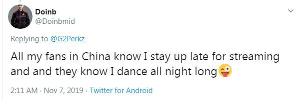 LMHT: Doinb đáp trả Perkz vô cùng hài hước - Hôm nào tôi cũng nhảy nhót trên stream đến đêm nhé - Ảnh 2.