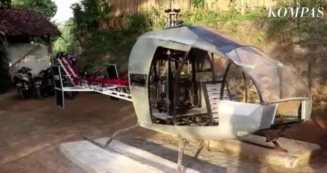Indonesia: Ngán ngẩm cảnh tắc đường mỗi ngày, ông chú chi gần 14 tỉ đồng để tự chế chiếc trực thăng bay cho nó thoáng - Ảnh 1.