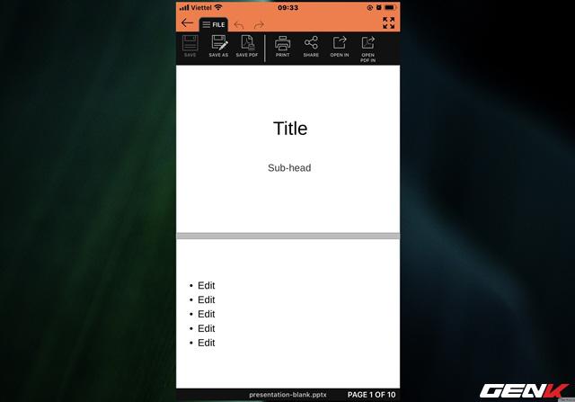 Tạo và thuyết trình nhanh tài liệu PowerPoint trực tiếp trên điện thoại với SmartOffice - Ảnh 6.