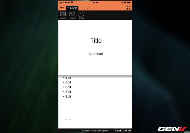 Tạo và thuyết trình nhanh tài liệu PowerPoint trực tiếp trên điện thoại với SmartOffice - Ảnh 7.