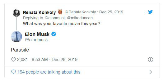 Không phải Endgame hay Joker, đây mới là bộ phim Elon Musk yêu thích nhất năm 2019 - Ảnh 1.